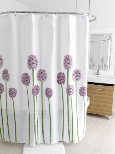 Splash Home Shower Curtain, 70 by 72-Inch, Allium