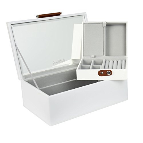 Bonded Leather Jewelry (50% OFF Dulwich Designs Malmo White Premium Bonded Leather Jewelry Box)