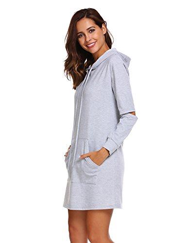Sweatshirt kleid grau
