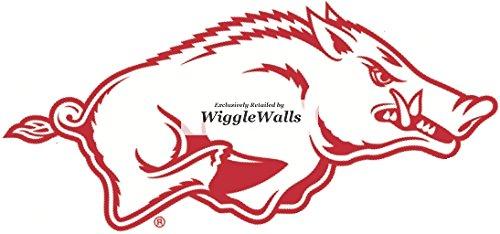 4 Inch Big Red Tusk Razorbacks University of Arkansas Uark Hogs AR Hog Logo Removable Wall Decal Sticker Art NCAA Home Room Decor 4.5 by 2 Inches