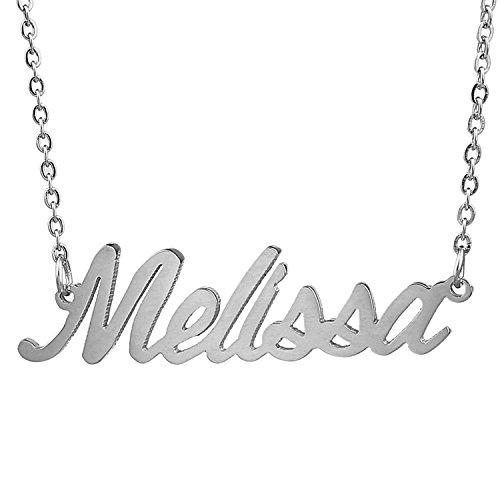 HUAN XUN Stainless Steel Word Charm Necklace Melissa Joy ()