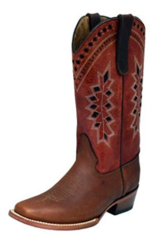 Ferrini Damene Apache Smal Kvadrat Brandy Støvler