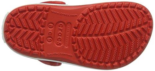 crocs Unisex-Kinder Crocband Kids Clogs Rot (Flame/White)