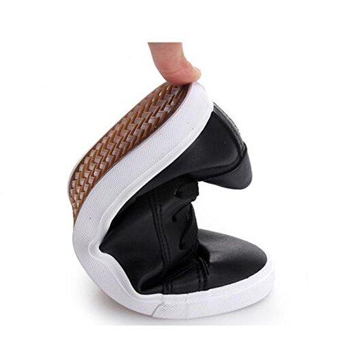 NGRDX&G Zapatillas De Deporte De Mujer Respirable Para Mujer Negro Blanco Casual De Mujer black