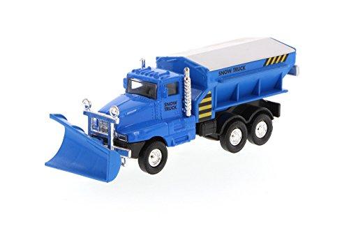 SF Toys Blue Front End Snow Plow Rear Salt Spreader 5.75