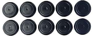 10 Plug Black Rubber Plugs For Flush Mount Body Sheet