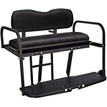 Gusto Yamaha Drive G29 Golf Cart Flip Folding Rear Back Seat Kit - Black