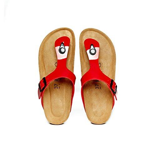 Mandèl Sandalo - Sandalias de Vestir de Piel Sintética Para Mujer Rojo Rojo