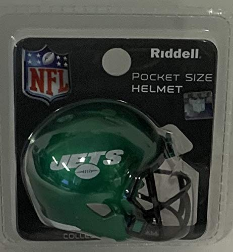 New York Jets 2019 Logo Riddell Speed Pocket Pro Football Helmet - Brand New