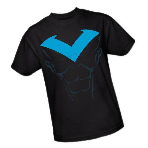 Nightwing Costume Shirt (Nightwing Costume -- Batman Adult T-Shirt, Large)