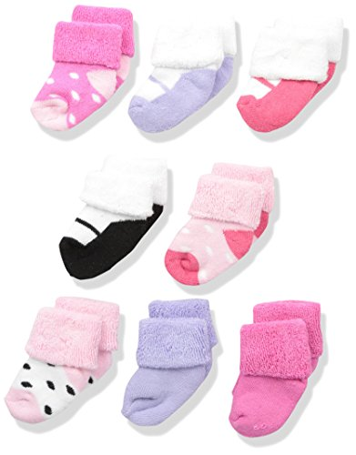 Large Product Image of Luvable Friends Unisex 8 Pack Newborn Socks