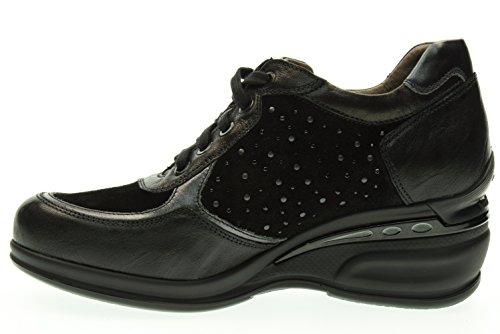 zapatillas Nero de 100 de mujer A616071D GIARDINI deporte la cuña NERO XqvUEw7