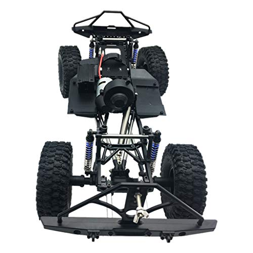 Toy Car Frame Metal Chassis,Zhaowei Assembled Frame Chassis for 1/10 RC Axial SCX10 / II 90046 90047 313mm Wheelbase,RC Car Accessories (Black) ()