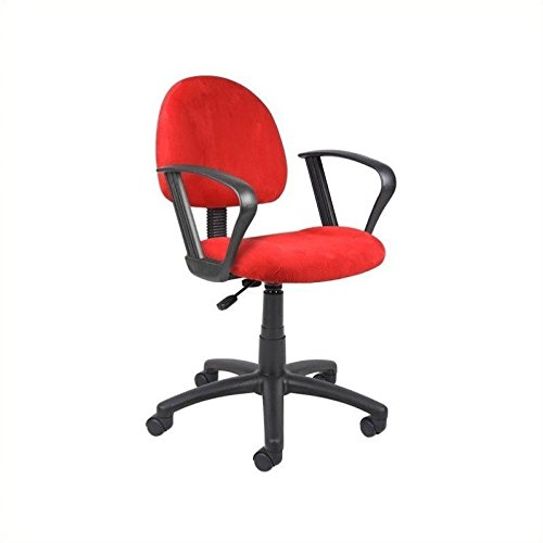 Loop Arm Task Chair (Boss Office Products B327-RD Perfect Posture Delux Microfiber Task Chair with Loop Arms in Red)