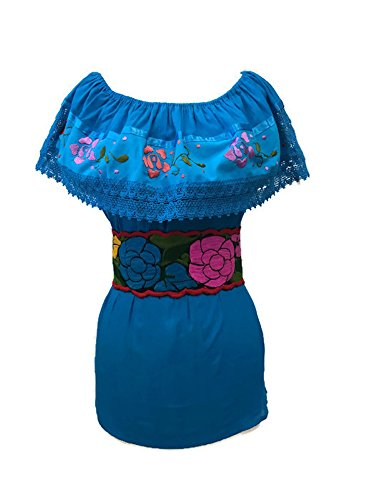 Traditional Mexican Embroidered Colorful Floral Belt (RED)