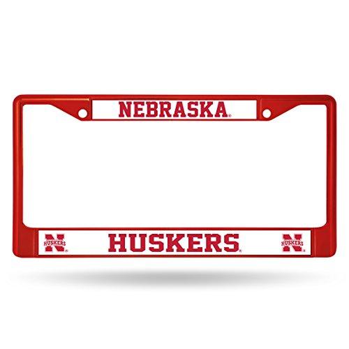 Rico Industries NCAA Nebraska Cornhuskers Colored Chrome Plate Frame, Red