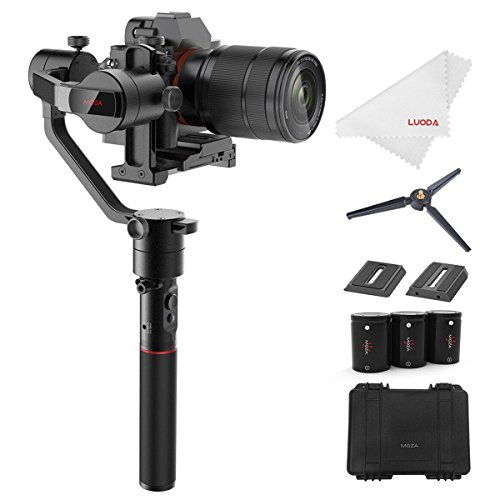 MOZA AirCross 3-Axis Gimbal Stabilizer for Mirrorless Camera up to 3.9 Lb, 12Hrs Run-time, Time-lapse Shooting, Auto-Tuning, i.e. Sony A7SII, Pana GH3/4/5 by MOZA