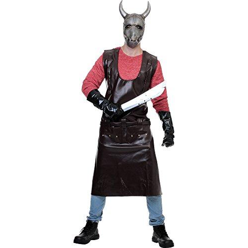 [Adult Hostel Movie Butcher Horror Costume] (Leather Apron Costume)