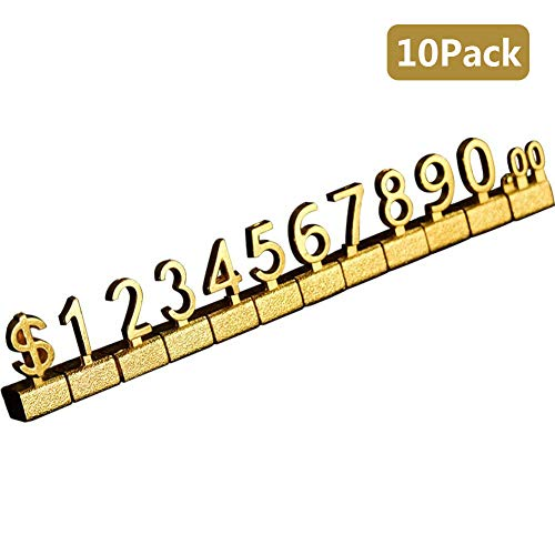 - Creation Core 10 Sets Counter Stand Label Tag Metal Arabic Number Price Tag Price Display Stand