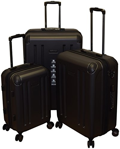 - Kenneth Cole Reaction 8 Wheelin Collection Lightweight 3-PC Expandable Hardside Spinner Luggage Set (Pewter)