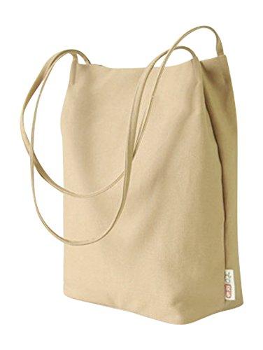 Canvas Tote Bag Handbag Shoulder Bag Purses For Men And Women (Khaki) Canvas Tote Bag Handbag
