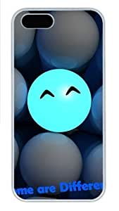 3D Ball Smiling Faces Some Are Different Polycarbonate Plastic iPhone 5S and iPhone 5 Case Cover White by Maris's Diary