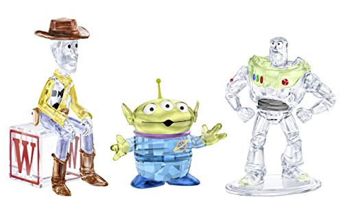 (Swarovski Crystal Toy Story Set of 3 Sheriff Woody (#5417631), Buzz Lightyear (#5428551), Pizza Planet Alien (#5428575) Figurines)