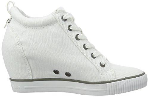 Femme Baskets Jeans White Blanc Canvas Ritzy Klein Ecru R3551wht Calvin wxXBSqICS