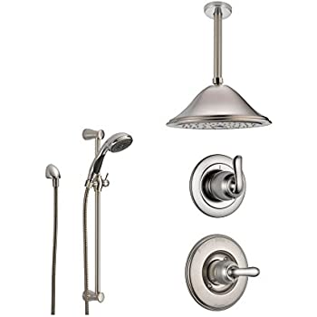 Delta Linden Stainless Steel Shower System with Normal