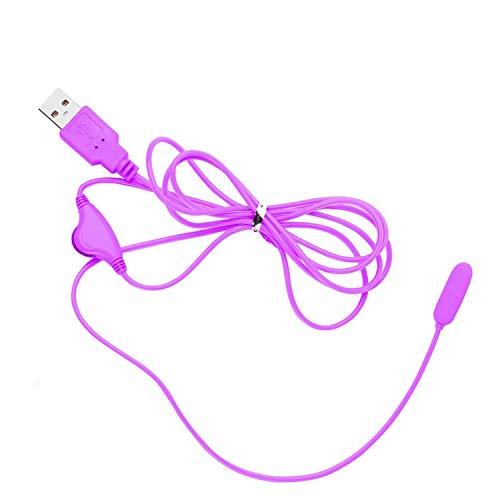 BCJSQ Adult Vibrating Egg Urethra Stimulate Pêňís Plug USB Víbrátór Sexxxs-Toys for Men Women Female Male Adult Product,Purple Tshirt