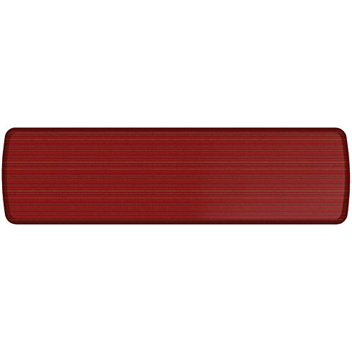 GelPro Elite Premier Anti-Fatigue Kitchen Comfort Floor Mat, 20x72'', Pinstripe Spiced Red Stain Resistant Surface with therapeutic gel and energy-return foam for health & wellness