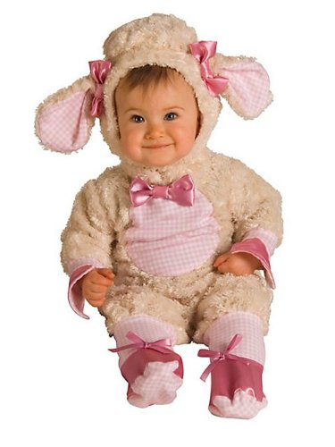 Baby Girls Lamb Costume, Pink, 12 - 18 months