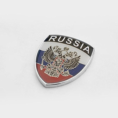 Amazing Russia Russian Show Quality Metal Decorative Emblem Decal Ornament 1.5