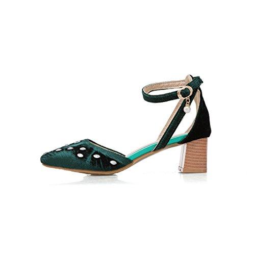 Sandalia Recoger La Agua Baotou Zapatos el Tacón Mujer Sra Mujer Pulsera la Alto Sandalias Coreana Sandalias Versión con de Punta Verano los Broca de audaces para y la Elegantes para Green de 1Y5xqYgw