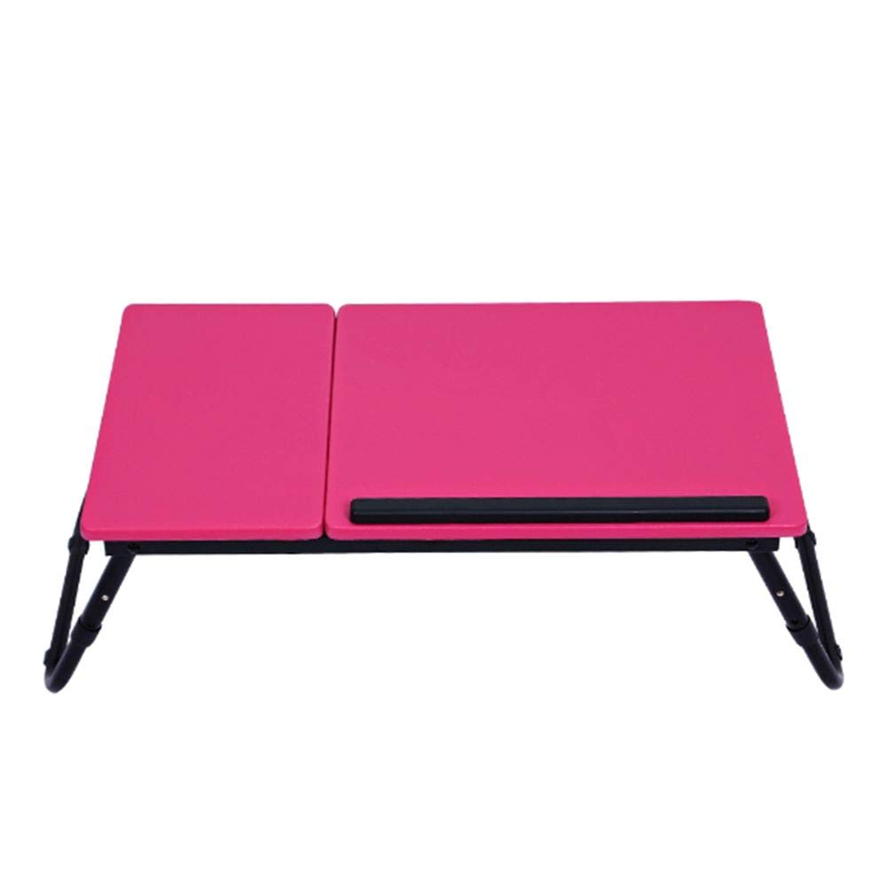 Laptop Computer Notebook Life Portable Folding Desk Table Stand Bed Tray,Non-Slip Adjustable Height Steel Pipe Support MDF Panel Modern Simplicity Style Design,for Play Games on Bed Storage,Pink by LUCKY ZERO 2025