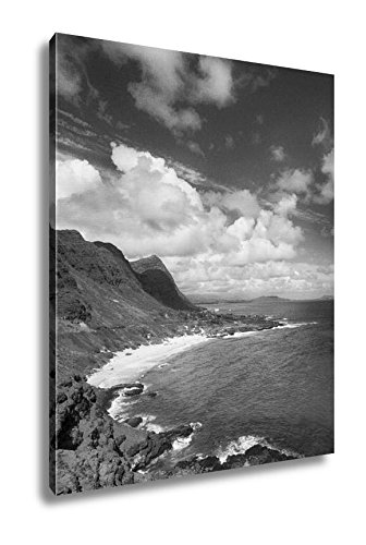 Ashley Canvas Beautiful Hawaii Landscape, Wall Art Home Decor, Ready to Hang, Black/White, 20x16, AG6406840 by Ashley Canvas