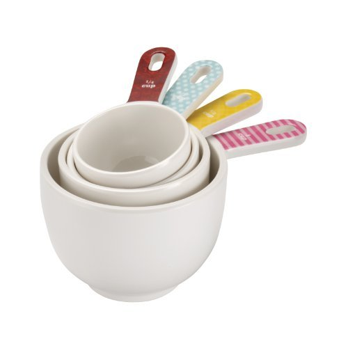 Cake Boss 4-Piece Melamine Classic Measuring Cup Set by Cake Boss