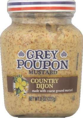 Grey Poupon Country Dijon Mustard 8 oz (Pack of 12)