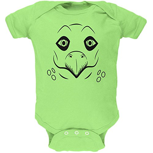 Price comparison product image Old Glory Cute Dino Dinosaur Face Stegosaurus Soft Baby One Piece Key Lime 3-6 M