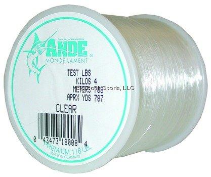 Ande Premium Finish - ANDE A18-6C Premium Monofilament, 1/8-Pound Spool, 6-Pound Test, Clear Finish
