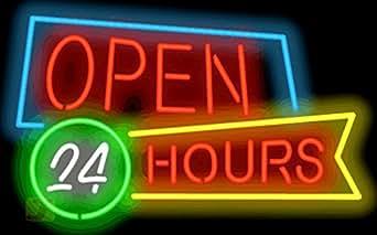 Open 24 Hours Neon Sign Picture Lights Amazon #0: 418fyzf9fbL SX342 QL70