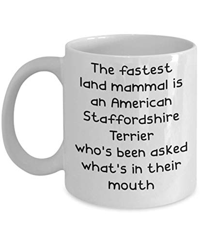 American Staffordshire Terrier Mugs - White 11oz 15oz Ceramic Tea Coffee Cup - Perfect For Travel And Gifts 1