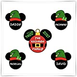 Disney Inspired Christmas Elf Magnet. Personalized Disney Cruise Magnet. Mickey Minnie Magnet. Stateroom Decor.