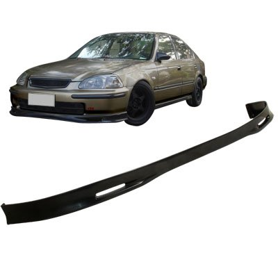 (99-00 Honda Civic 2DR Coupe Spoon Sport Front Body Bumper Lip Spoiler Kit)