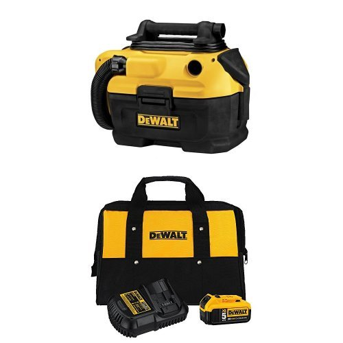 DEWALT 18|20-Volt MAX Cordless|Corded Wet-Dry Vacuum with Charger Kit and Bag