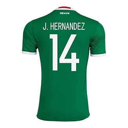 荒野荒野虐殺J. Hernandez #14 Mexico Home Jersey Copa America Centenario 2016 / サッカーユニフォーム メキシコ ホーム用