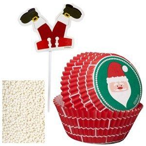 Wilton Cupcake Decorating Kit - Santa/Chimney (Down Cake Chimney Christmas Santa)