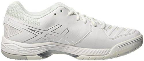 Homme Tennis Chaussures Cass de 6 Blanc Gel Asics Game UTwqOH11