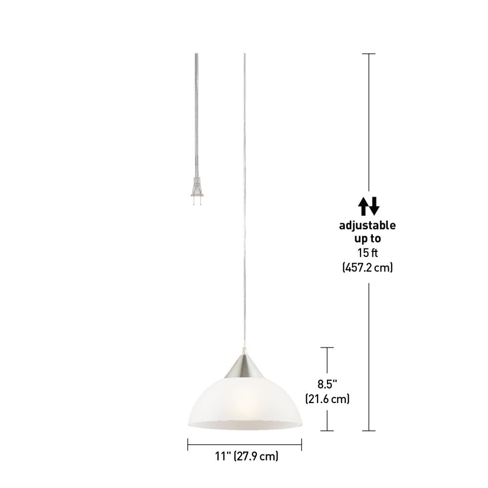 Globe Electric 64413 Pendant Lighting 11 Inch White by Globe Electric (Image #3)