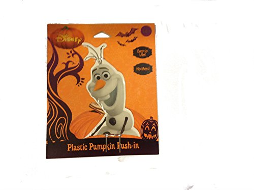 Disney Frozen Olaf Halloween Plastic Pumpkin Push-in